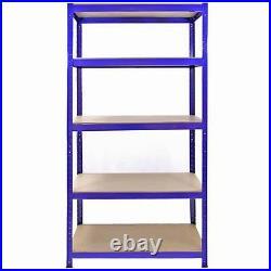 1 x Corner Racking Garage Storage 4 x 90cm Boltless Metal Heavy Duty Shelves