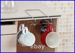 10 Cup Under Shelf Mug Holder Hangers Storage Racks Kitchen Cupboard White Hook