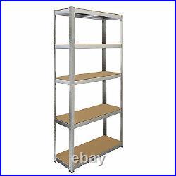 10 x Garage Shelves Shelving 5 Tier Racking Boltless Heavy Duty Storage Shelf