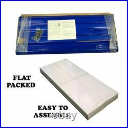 (1500 x 700 x 300) mm Heavy Duty Storage Racking 5 Tier Blue Shelving Boltless