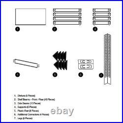 (1500 x 700 x 300) mm Heavy Duty Storage Racking 5 Tier Grey Shelving Boltless