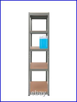 2 x 5Tier WIDE EXTRA Heavy-Duty Garage Shelving Unit Shed Storage Racking Shelf