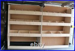 2 x Vauxhall Vivaro SWB Van Racking Plywood Tool Storage Rack Ply Shelving Units