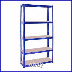 2X Heavy Duty Metal 5 Tier Boltless Shelving Racking Storage Shelf Rack Shelve