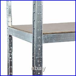 3-Bay Steel Garage Shelving Racking Galvanised and Boltless 175KG UDL