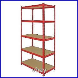 3 Garage Shelves Shelving 5 Tier Unit Racking Boltless Heavy Duty Storage Shelf