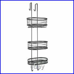 3 Tier Chrome Shower Caddy Bathroom Hanging Storage Rack Shelf Stainless Steel