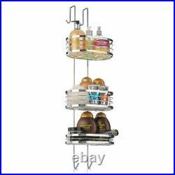 3 Tier Oval Shower Caddy Bathroom Storage Rack Shelf Organiser Basket Tidy Bath