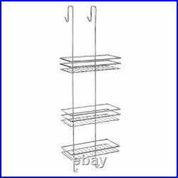3 Tier Shower Caddy Bathroom Storage Rack Shelf Organiser Basket Cubicle Tidy