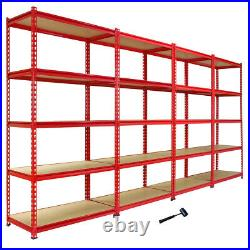 4 Garage Shelves Shelving 5 Tier Unit Racking Boltless Heavy Duty Storage Shelf