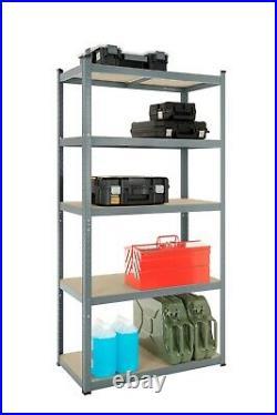 4 Garage Shelving Racking Bays 5Tier EXTRA HD Racking Shelves Storage Shed