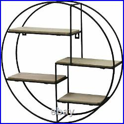 4 Tier Round Floating Wall Hanging Shelf Display Storage Shelve Decorative Rack