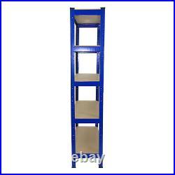 4 x Garage Shelves Shelving Unit Racking Boltless Heavy Duty Storage Shelf 75cm