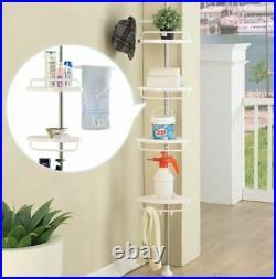 4tier Bathroom Shower Corner Upright Hanging Pie Rack Caddy Shelf Storage Holder