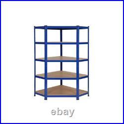 5 Bay Corner Racking/Shelving 5 Tier Heavy Duty Garage Storage Racks