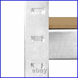 5 Bay Galvanised Corner Shelving/Racking Unit Garage & 5 Storage Racks 1500mm H