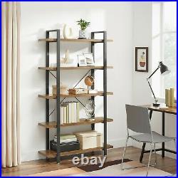 5-Layer Bookshelf Industrial Stable Bookcase Storage Rack Standing Shelf LLS55BX