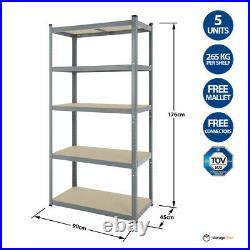 5 Racking Bays 5Tier Garage Shelving Unit EXTRA HD Racking Shelves Storage