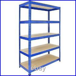 5 Racking Bays Garage Storage Shelves Warehouse Shelving Unit Steel Metal 5 Tier