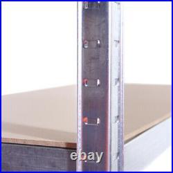 5 Tier Galvanised Metal Deep Wide Garage Shelving Racking Storage 180x120x60cm