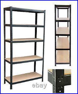 5 Tier Garage Shed Shelving Racking Kit 1 x Boltless Corner & 4 x Straight Shelf