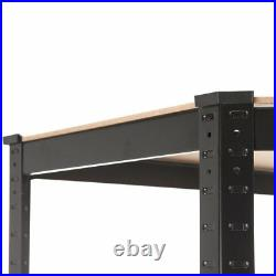 5 Tier Heavy Duty Corner Shelving Rack Shop Storage Display Shelves Utility Home