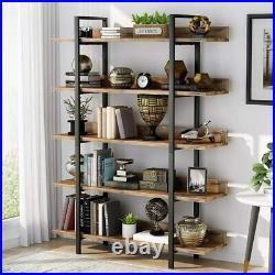 5-Tier Industrial Bookcase Home Office Storage Rack Standing Shelf by Tribesigns