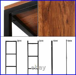 5 Tier Ladder Shelf Bookcase Industrial Storage Rack Metal Frame Display Stand