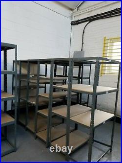 5 Tier Racking Boltless Heavy Duty Steel Shelving Storage Unit Garage Warehouse