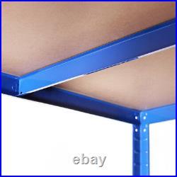 5 x Blue Metal 5 Tier Garage Shelves Shelving Unit Racking Storage 180x90x40cm