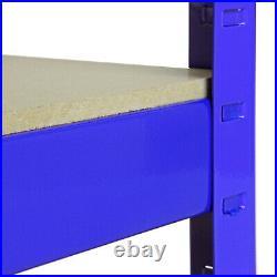 5 x Garage Shelves Shelving Unit Racking Boltless Heavy Duty Storage Shelf 90cm