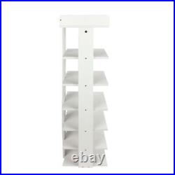 7-tier Single Shoe Storage Rack Stand Organiser Unit Shoe Shelf Home Wood Unit