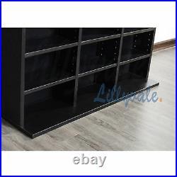 Black Storage Shelf Rack Unit Free Standing Bookcase Video Games 1116 CD/528 DVD