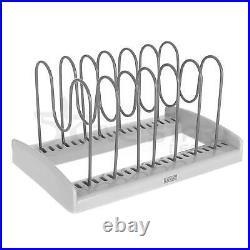 Cabinet Saucepan Pan Lids Plates Storage Rack Holder Cupboard Kitchen Shelves UK