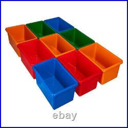 Children Books & Toys Storage Rack 9 Tube Wooden Bedroom Playroom Kids Organiser