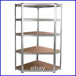 Corner Racking & 4 x 90cm Shelves Shelving Unit Boltless Heavy Duty Storage
