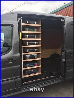 Ford Transit 2014 Onwards Sidedoor Drilbox Storage Van Racking Plywood Shelving