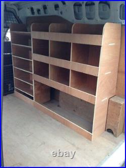 Ford Transit Connect Van Shelving Racking LWB Plywood System Case Storage OS