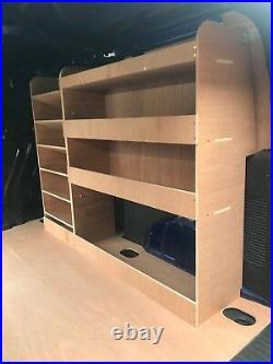 Ford Transit Connect Van Shelving Racking LWB Plywood System Case Storage OS Pln