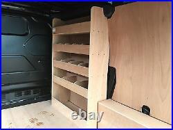 Ford Transit Custom 4 Shelf Van Racking Shelving SWB Storage unit (O/S Front)