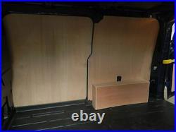 Ford Transit Custom LWB Plywood racking DS12 Split Comp, Van storage Solutions