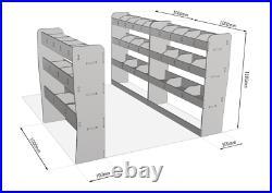 Ford Transit Custom SWB L1 TRIPLE Van Racking Tool Storage Organiser Shelving