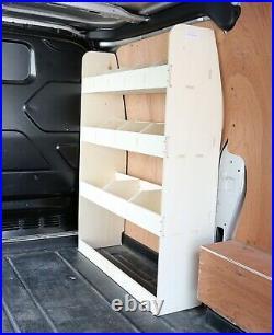 Ford Transit Custom SWB Ply Van Racking Shelving Tool Storage System OS Front