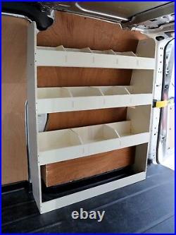 Ford Transit Custom SWB Van Racking Shelving Tool Storage Van Organiser OS Rear