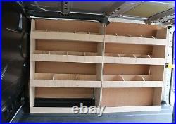 Ford Transit Custom SWB Van Racking Tool Shelving Storage XL Full driver side