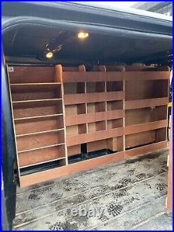 Ford Transit Custom Van Shelving Racking LWB Plywood System Case Storage Unit