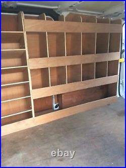 Ford Transit Custom Van Shelving Racking SWB Plywood System Case Storage Unit