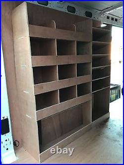 Ford Transit Van Shelving Racking LWB L3 Plywood System Case Storage Unit NS