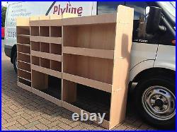 Ford Transit Van Shelving Racking MWB L2 Plywood System Case Storage Unit