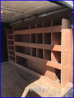Ford Transit Van Shelving Racking SWB Plywood System Case Storage Unit